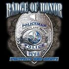 Police Fitted Shirt Badge Of Honor Protect Serve Officer 911 Law Enforcement Cop