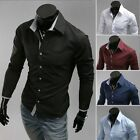 New Men's Fashion Sexy Blouse Long Sleeve Tops British Style Formal Dress Shirt