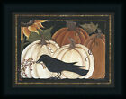 Harvest Crow 12x16 Pumpkin Autumn Still Life Framed Art Print Picture Wall Decor