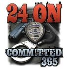 Law Enforcement Sleeveless Denim Vest 24 On Committed 365 Police Badge Cop Biker