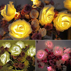 20LED Rose Flower Fairy Wedding Garden String Lights Party Christmas Decoration