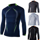 Casual Men's Gym Sports T-Shirt Stylish Slim Fit Long Sleeve Top Pullover Blouse