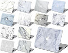 3in1 White Marble painted Hard Cut-out Case Laptop Shell For New Macbook Pro Air