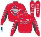 RED Mustang Multi-Logo Jacket with Mach 1, BOSS, GT/CS, Cobra, SVT, Ford & More