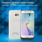 8000mAh Extenal Power Bank Charger Case Cover For Samsung Galaxy S6 Edge Plus