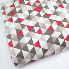 MINK & RED Le TRIANGLE GEOMETREIC 100% COTTON FABRIC 160cm OEKO-TEX