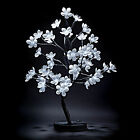 48 BULB LED 30CM BATTERY COLOUR / WHITE FLOWER CHERRY TREE BONSAI - NEW