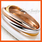 18k Yellow White Rose Gold Gf Solid Lady Trinity Russian Engagement Wedding Ring