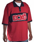 Ecko Unltd. Men's Big & Tall Rhino Star Red Rugby Polo Shirt