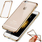 Crystal Clear Rubber Plating Bumper Soft TPU Case Cover For iPhone 6 S 6S Plus