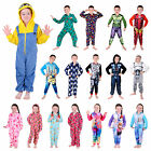 Kids Onesie Official Character Fleece All In One Boys Girls Pyjamas 2-12 Years