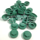 "16mm JADE GREEN HEXAGONAL SCREW COVER CAPS TO FIT 8mm 5/16""TEK SCREWS (AM2)"