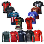 Men Long/short T-Shirts Superheros Batman The Avengers Cycling Jerseys Deadpool