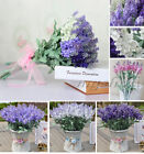 10 Heads Artificial Lavender Flower  Wedding Party Garden Christmas Home Decor