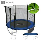 8ft Trampoline with Enclosure Safety Net, Ladder,Cover & Shoe Bag by KANGA