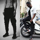HOT Mens Casual Fit Training Jogging Dance Skinny Cotton Trousers Sport Pants