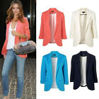 New Womens Ladies Candy Colors Stylish Suit Jacket Blazer Size 6 8 10 12 14