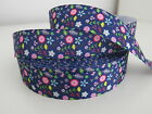Printed Grosgrain Ribbon Dummy Hair Clips Cake Craft Hair Bow 1 Meter 22/25mm  <br/> Superb quality FREE postage when you spend &pound;6 or more