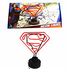 Official DC Comics Superman Red Neon Light Bedroom Night Lamp Superhero Gift Box