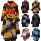 Womens Italian Quirky Layer Bubble Wool Funnel Neck Cocoon Winter Jacket  Coat