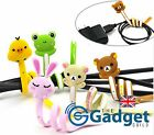 Pack of Cute Animal Cable Winders Ties Tidy Organisers Silicone Cat Rabbit Frog