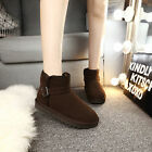 short ankle boots flat - Classic Short Brown Woman Winter Snow Boots Flat Ankle Best Christmas Gift 4 Her