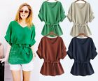 New Fashion Women's Accept Waist Shirt Tops Blouse Fertilizer To Increase Xl-5XL