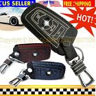 Hot SPORTS Genuine Leather Key Cover Fob Chain Case Fits BMW Smart Car Remote