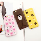 Cartoon lovely line friends bear rabbit soft case cover for apple iphone 6S plus