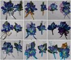 2pcs Corsage & Boutonniere Set Blue Purple Orchids Many Different Styles & Color