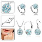 Wholesale 925silver necklace earing ring set Valentine's Day gift silver jewelry