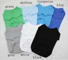Pet Dog Cat Plain T-shirt Dogs Clothing Apparel C1080-1086