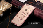 "Bling Rose Gold Phone Case For iPhone 6S Plus 5.5"" Orchid With Austria Crystal"
