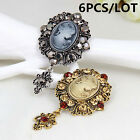 Vintage Style Victoria Style Lady Head Cameo Brooch Exquisite Gift Pin B989