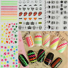 2 Sheets 3D Nail Art Stickers Beauty Manicure Decals Decor for Women Lady Gift