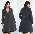 Torrid Doctor Who Tardis Navy Steampunk Victorian Trench Coat - Womens Plus Size