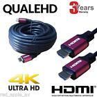 QualeHD HDMI Lead v2.0 2160p 4K UHD with Red Connector 10m,5m,3m,1m