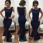 Womens Chiffon Long Dress Cocktail Party Evening Dress Formal Prom Ball Gown