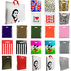 PLASTIC CARRIER BAG - Modern Printed Strong Gift shopping Bags- ALL SIZES/COLORS