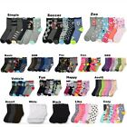 12 Pairs Lot Boy Girl Crew Ankle Socks Casual 0-12 2-3 4-6 6-8 Baby Toddler Kids