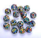 Multi Colour Crystal Rhinestones Pave Clay Round Ball Spacer Beads 8MM 10MM 12MM