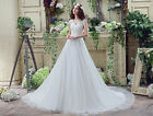 Plus Size In Stock A Line New White/Ivory Wedding Dresses Bridal Gown US 4-26W