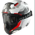 SHARK VANCORE WIPEOUT WHITE RED MOTORCYCLE URBAN STREETFIGHTER HELMET + GOGGLES