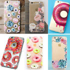 2016 Flower Succulent Food Transparent Case Cover Skin For iPhone 5 5S 6 6S Plus