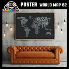 POSTER MAPPA MONDO WORLD MAP 02 CARTA FOTOGRAFICA QUALITA' 35x50 50x70 70x100