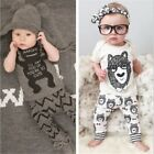 New baby boys girls cute t-shirt + pants cotton outfit children set 6M-24M