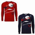 Brave Soul MK-181Dasher Christmas Knitted Crew Neck Jumper Sweater RRP £29.99