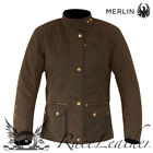 MERLIN BROMLEY WOMENS BROWN WAX COTTON WATERPROOF MOTORCYCLE MOTORBIKE JACKET