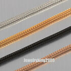 """Cool 3MM Exquisite Stainless Steel """"Round-Net"""" Chain Necklace Adjustable 18""""-40"""""""