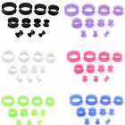 22pcs Flexible Silicone Ear Flesh Tunnels Plugs Gauges Expander Stretching Kits